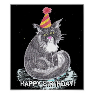 Party Cat Poster