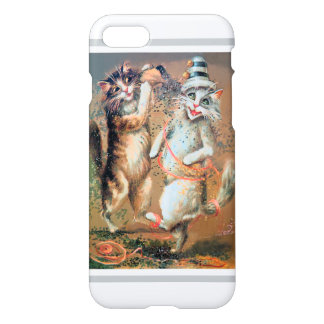 Party Cats - Anthropomorphic Cats Throw Confetti iPhone 7 Case