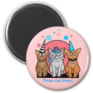 Party Cats with Hats Fridge Magnet