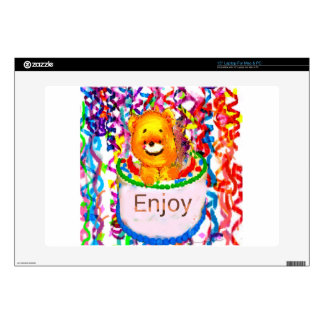 Party celebration decals for laptops