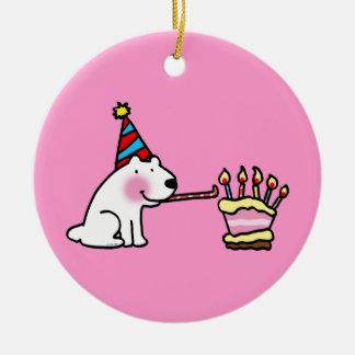 Party celebration happy birthday ceramic ornament