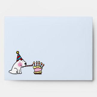 Party celebration happy birthday envelope