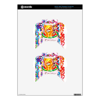 Party celebration xbox 360 controller decal