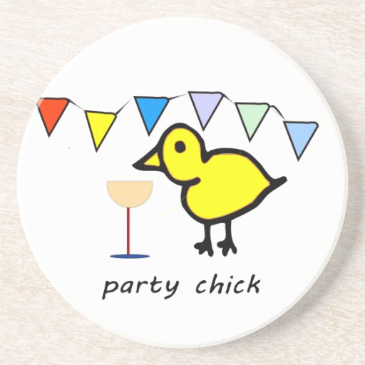 Party Chick Beverage Coaster