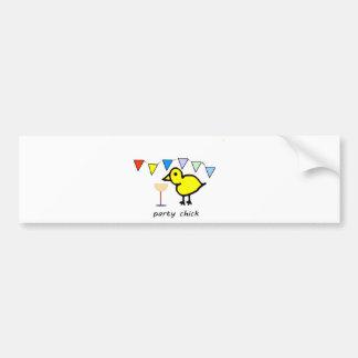 Party Chick Bumper Sticker