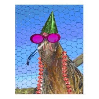 Party Chicken Postcard