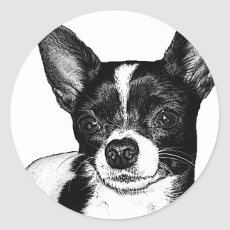 Party Chihuahua Classic Round Sticker