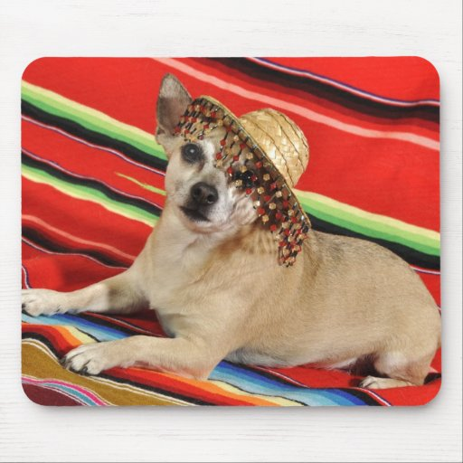 Party Chihuahua Mouse Pad