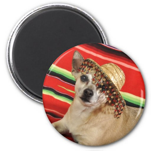 Party Chihuahua Refrigerator Magnet