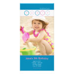 Party Circles - Personal Photo - Blue & Pink Picture Card