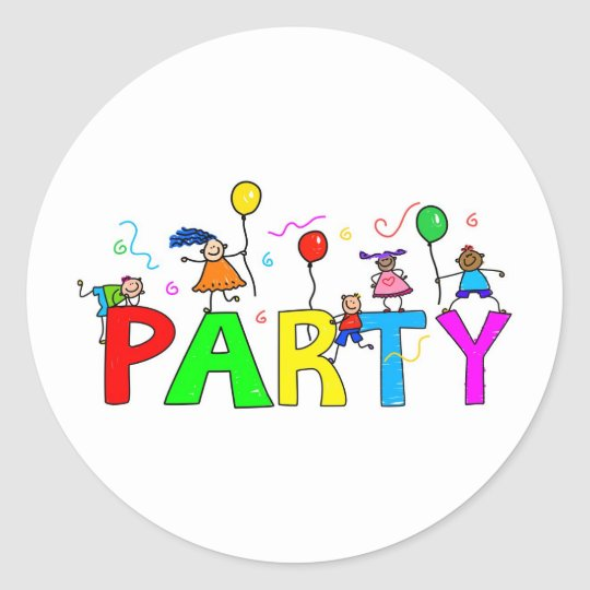 Party Classic Round Sticker