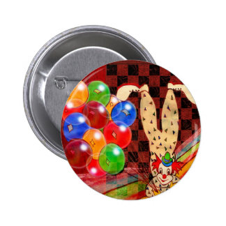 PARTY CLOWN AND FROGS.jpg Pinback Buttons