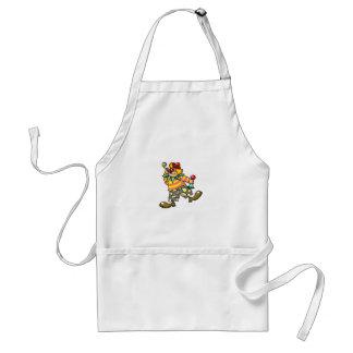 party clown adult apron