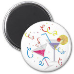 Party Cocktail 2 Inch Round Magnet