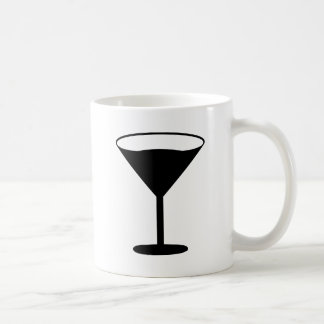 party cocktail icon black coffee mug