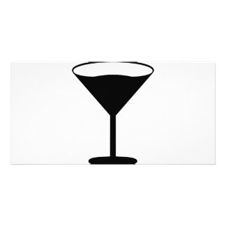 party cocktail icon black photo card