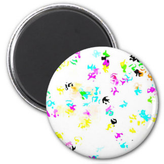 Party Colored Molecules 2 Inch Round Magnet