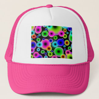 Party Colorful Digital Circles Hipster Groovy Love Trucker Hat