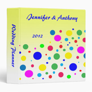 Party Colors Polka Dot Wedding Planner Binder