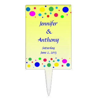 Party Colors Wedding Cake Topper