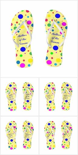 Party Colors Wedding Flip Flops