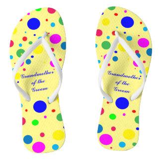 Party Colors Wedding Grandmother Groom Flip Flops