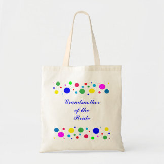 Party Colors Wedding Grandmother of the Bride Budget Tote Bag