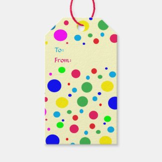 Party Colors Wedding Pack of Gift Tags