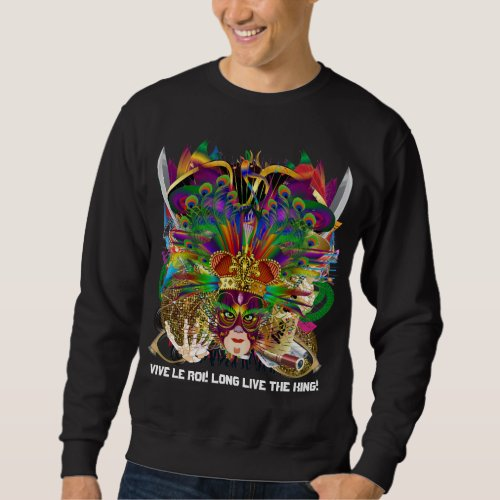 Party Combo Kings DJ. Dragon, Pirate, Mardi Gras Sweatshirt