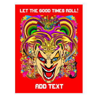 Party Combo Pk Pick from Witch Doctor Jester Clown Postcard