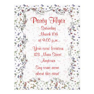 """Party Confetti 8.5"""" X 11"""" Flyer"""