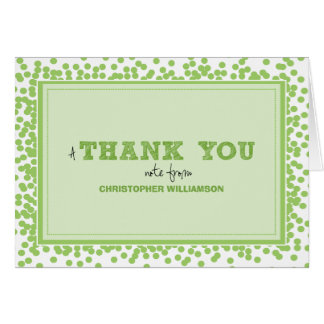 Party Confetti Kids Thank-You Card (green)