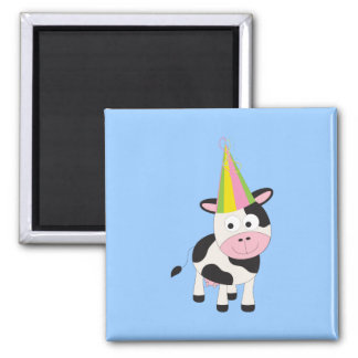 Party Cow 2 Inch Square Magnet