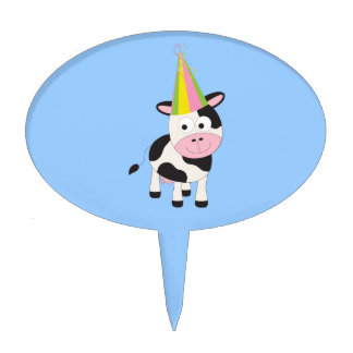Party Cow Cake Toppers