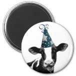 Party Cow -  Dairy Style Celebration Fridge Magnets