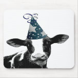 Party Cow -  Dairy Style Celebration Mouse Pad