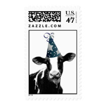 Party Cow -  Dairy Style Celebration Postage