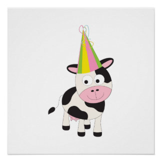 Party Cow Poster