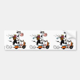 party cow scrapbook sticker car bumper sticker