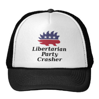 party crasher on white or light color trucker hat