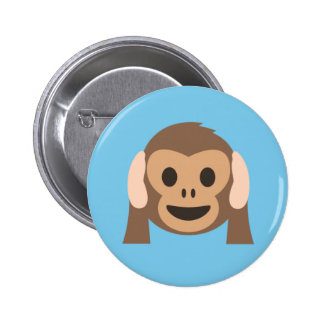 Party Crashers Monkey Button in Blue