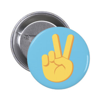 """Party Crashers """"Peace"""" button in Blue"""