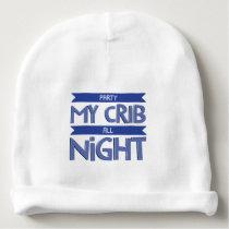 Party Crib All Night Baby Beanie