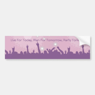 Party Crowd Bumper Sticker