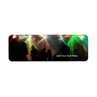 Party Crowd Mirror Balls Dance Party Address Label