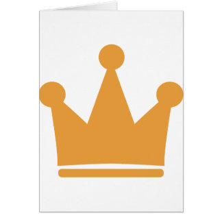party crown icon greeting card