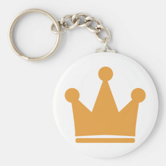 party crown icon basic round button keychain