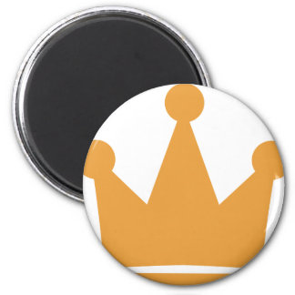 party crown icon 2 inch round magnet