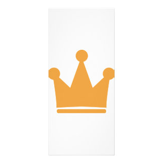 party crown icon full color rack card