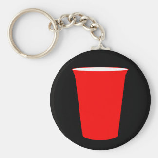 party cup basic round button keychain